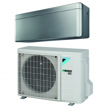 Aire Acondicionado 1×1 Daikin Stylish TXA25AS (R-32) Plata.