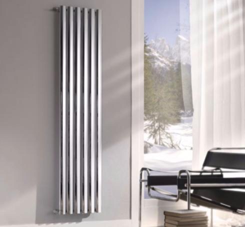 Radiadores verticales en casa